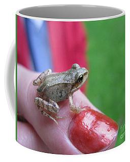 Coffee Mug featuring the photograph Frog The Prince by Ausra Huntington nee Paulauskaite