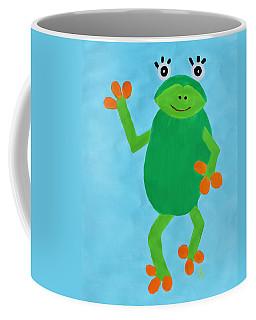 Coffee Mug featuring the painting Froggie by Deborah Boyd