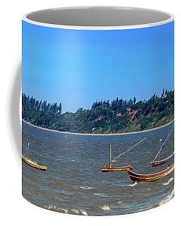 Frolicking Fishing Boats At Ketembe Coffee Mug