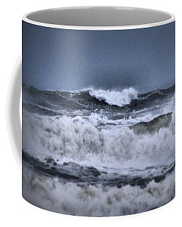 Coffee Mug featuring the photograph Frolicsome Waves by Jeff Swan