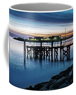 Coffee Mug featuring the photograph From The Fort Monroe Seawall by Jerry Gammon