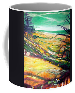 Coffee Mug featuring the painting From The Lawn Pandanus by Winsome Gunning