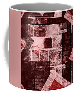 Coffee Mug featuring the mixed media From The Other Side 15 by Sir Josef - Social Critic - ART