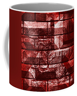 Coffee Mug featuring the mixed media From The Other Side 17 by Sir Josef - Social Critic - ART