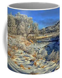 Frost Along The Creek Coffee Mug