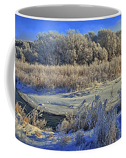 Frost Along The Creek - Panorama Coffee Mug