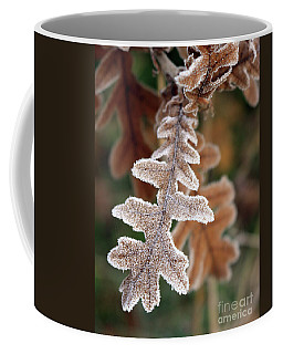 Frost Covered Oak Leaf Coffee Mug