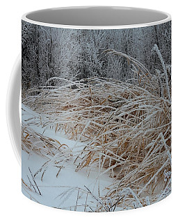 Frost Laden Grasses Coffee Mug