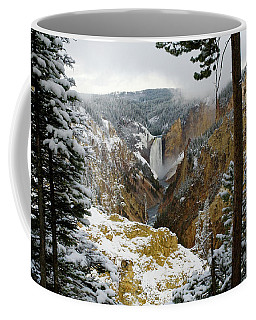 Coffee Mug featuring the photograph Frosted Canyon by Steve Stuller