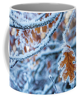 Frosted Leaf Coffee Mug