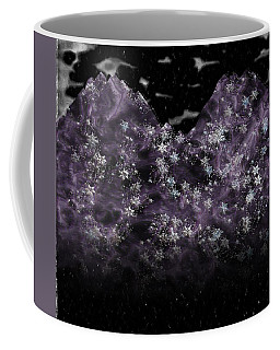 Frosted Purple Mountains Coffee Mug