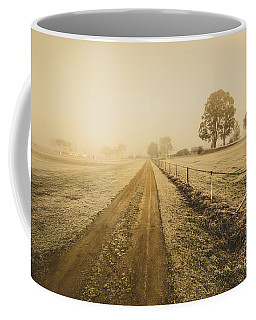 Frosted Road In Outback Australia Coffee Mug