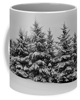 Coffee Mug featuring the photograph Frosted Trees by Kathleen Sartoris