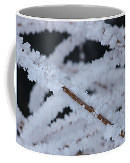 Coffee Mug featuring the photograph Frosted Twigs by DeeLon Merritt