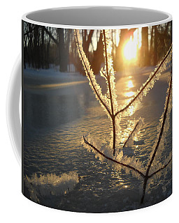 Frosty Branches At Sunrise Coffee Mug by Kent Lorentzen