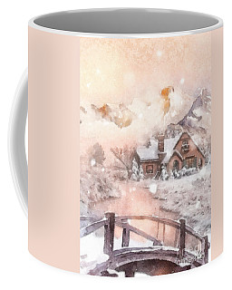 Frosty Creek Coffee Mug by Mo T