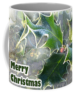 Coffee Mug featuring the photograph Frosty Holly by LemonArt Photography