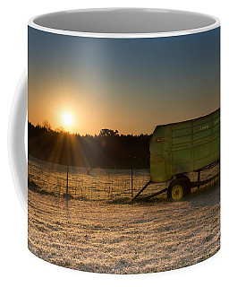 Frosty John Deere Sunrise Coffee Mug