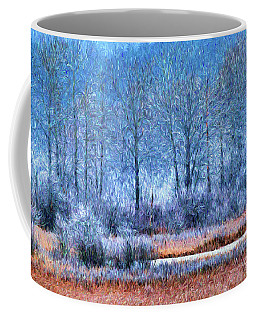 Coffee Mug featuring the digital art Frosty Morning At The Marsh Photo Art by Sharon Talson
