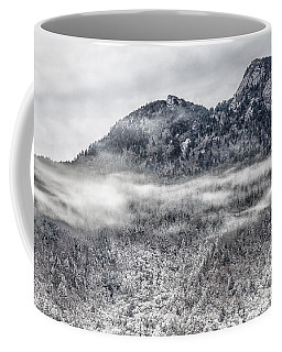 Snowy Grandfather Mountain - Blue Ridge Parkway Coffee Mug