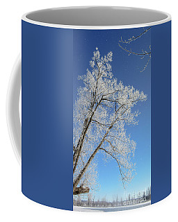Frosty Tree Over The Mississippi Coffee Mug by Cheryl Baxter