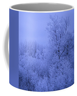 Frosty Trees At Night Coffee Mug