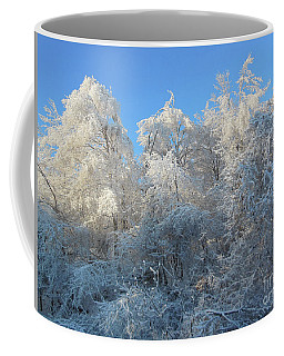 Coffee Mug featuring the photograph Frosty Trees by Rockin Docks Deluxephotos