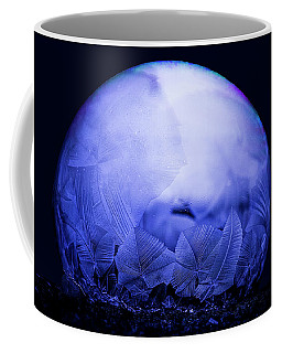 Frozen Bubble Art Blue Coffee Mug
