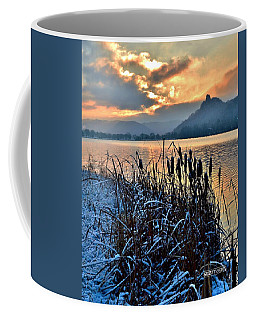 Frozen Cattails Coffee Mug