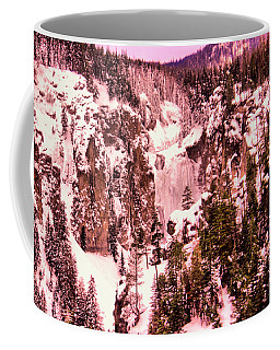 Coffee Mug featuring the photograph Frozen Clear Creek Falls by Jeff Swan