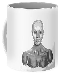 Bald Superficial Woman Mannequin Art Drawing  Coffee Mug