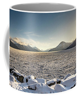 Frozen Fjord Sunrise Coffee Mug