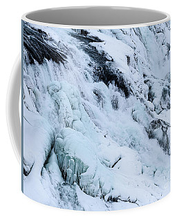 Frozen Gullfoss In Winter Coffee Mug