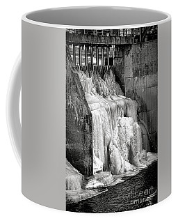 Coffee Mug featuring the photograph Frozen Power by Olivier Le Queinec