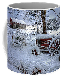 Coffee Mug featuring the photograph Frozen Relics by Wayne Marshall Chase