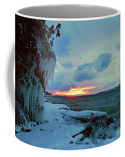 Frozen Sunset In Cape Vincent Coffee Mug