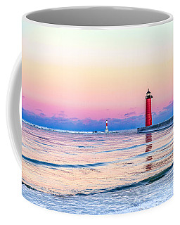 Coffee Mug featuring the photograph Frozen Sunset by Steven Santamour