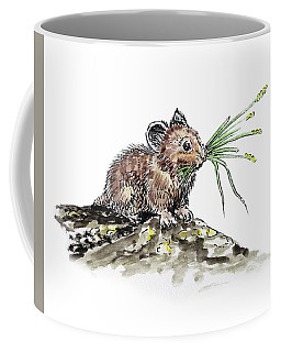 Coffee Mug featuring the painting Frugal Mr Mouse  by Irina Sztukowski