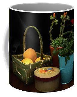 Fruit And Flowers Still Life Digital Painting Coffee Mug