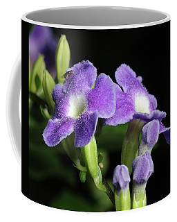 Coffee Mug featuring the photograph Fruit Fly On Golden Dewdrop by Richard Rizzo