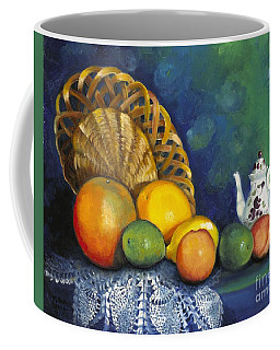 Fruit On Doily Coffee Mug by Marlene Book