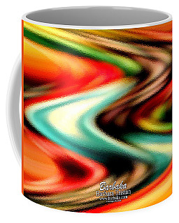 Coffee Mug featuring the photograph Fruit Sticker Evolves by Barbara Tristan