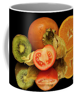 Coffee Mug featuring the photograph Fruits With The Tomatoes by Elvira Ladocki