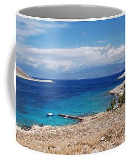 Ftenagia Beach On Halki Coffee Mug