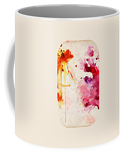 Fuchsia And Orange Color Splash Coffee Mug