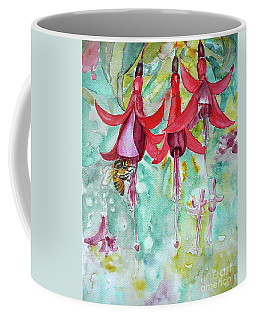 Coffee Mug featuring the painting  Fuchsia by Jasna Dragun