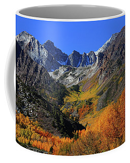 Full Autumn Display At Mcgee Creek Canyon In The Eastern Sierras Coffee Mug