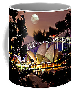 Full Moon Above Coffee Mug