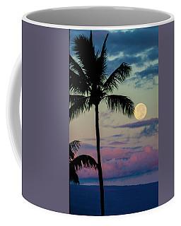 Full Moon And Palm Trees Coffee Mug