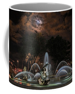 Full Moon At The Fountain Coffee Mug